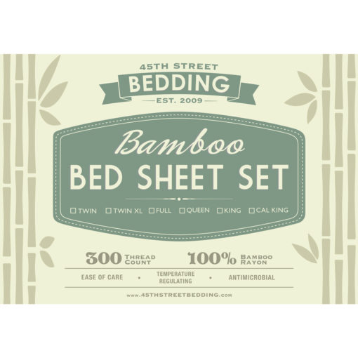 Bamboo Bed Sheets Set Insert